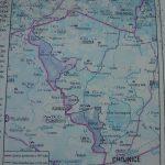 Mapa przebiegu granicy polskiej po I Wojnie Światowej
