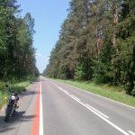 Prosta wzdłuż lotniska Cewice