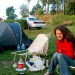 Nad jeziorem Kłodno, kamping Tamowa
